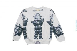 Sample #24 Kids Artisan Sublimation Reverse Fleece Crewneck Sweatshirt by Art As Clothes