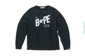 Classic Bapesta Big Sta Back Print Crewneck Sweatshirt by A Bathing Ape