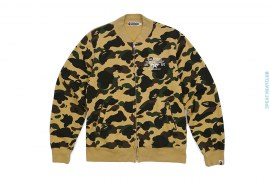 ASNKA Twinsta Logo 1st Camo Sweat Varsity Jacket by A Bathing Ape