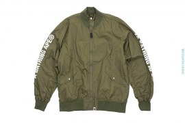 Sleeve Print Light Weight MA1 Bomber Flight Jacket by A Bathing Ape