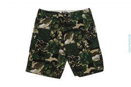 Patchwork Vintage Camo Series Cut & Sew Shorts by A Bathing Ape