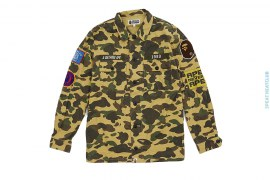Patches 1st Camo Military Work Shirt by A Bathing Ape