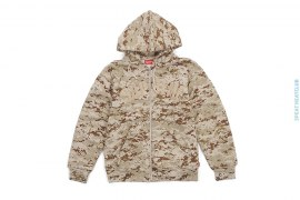 Tackle Twill Desert Camo Zip Up Thermal Hoodie by Supreme