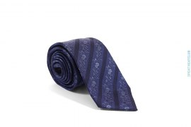Flower Border Silk Necktie by Simon Carter