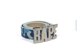 ABC Camo BAPE Buckle Premium Leather Belt by A Bathing Ape