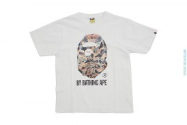 1st Camo Military Shirt Classic Apehead Graphic Tee by A Bathing Ape