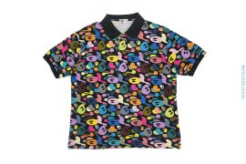 Multi Milo Camo Pique Polo Shirt by A Bathing Ape