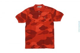 Zoom Color Camo Pique Polo Shirt by A Bathing Ape