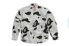 Zoom ABC Camo Long Sleeve Button-Up Shirt by A Bathing Ape