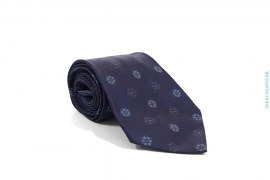 Flower Print Tie by Chanel