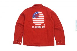USA Apehead Cotton Work Jacket by A Bathing Ape