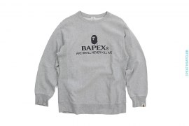 Bapex Apehead Clock Crewneck Sweatshirt by A Bathing Ape
