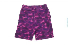 Color Camo Vintage Wash Sweatshorts by A Bathing Ape