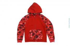 Color Camo Hood & Sleeve Raglan Full Zip Hoodie by A Bathing Ape