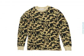 OG 1st Camo Long Sleeve Thermal Crewneck Tee by A Bathing Ape