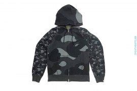 Half Zoom ABC Camo Full Zip Hoodie by A Bathing Ape
