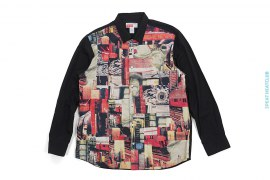New York Photo Collage Button-Up Shirt by Supreme x Comme des Garcons