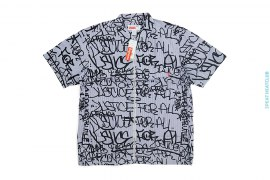 Justice For All Graffiti Short Sleeve Zip Up Shirt by Supreme x Comme des Garcons