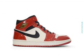 Air Jordan 1 Mid Chicago Patent Leather by Jordan Brand