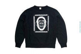 Grillz Ape Swarovski Crewneck Sweatshirt by A Bathing Ape