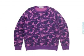 Fire Camo Crewneck Sweatshirt by A Bathing Ape