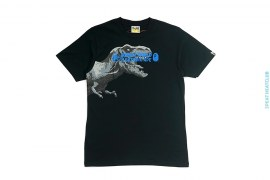 Dinosaur Graphic Print Capsule Tee by A Bathing Ape x Jurassic World