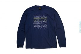 Repeat Line Graphic Long Sleeve Tee by OVO