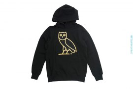 Embroidered Gold Owl Hooded Sweatshirt Pullover Hoodie by OVO