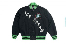 Cone Man Skating Satin Varsity Jacket by BBC/Ice Cream