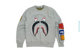 Shark WGM Wappen Crewneck Sweatshirt by A Bathing Ape