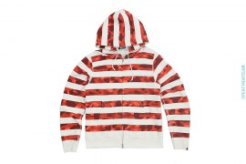 Color Camo Stripe Border Hoodie by A Bathing Ape