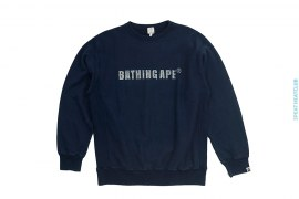 Swarovski Logo Crewneck Sweatshirt by A Bathing Ape