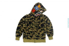 1st Camo Boa Shark Full Zip Puffer Down Jacket by A Bathing Ape
