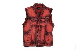 Overdyed Denim Vest by Rude