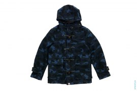 Color Camo Wool Duffel Coat by A Bathing Ape