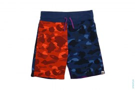 Crazy Color Camo Sweatshorts by A Bathing Ape