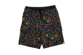 Neon Camo Cargo Sweatshorts by A Bathing Ape