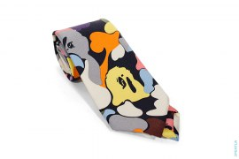 Mr. Bathing Ape Multi Camo Silk Tie by A Bathing Ape