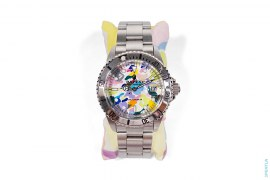 Multi-camo Bapex Watch by A Bathing Ape