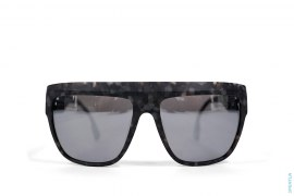 Wide Frame Silver Apehead Sunglasses by A Bathing Ape