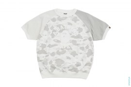 Crazy Color Camo College Logo Short Sleeve Crewneck Sweatshirt by A Bathing Ape