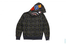 Strike Plaid Shark Full Zip Hoodie by A Bathing Ape x Undefeated
