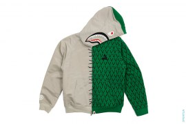 Aligator Frankenstein Shark Hooded Jacket by A Bathing Ape x Ambush