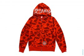 Color Camo Applique Back Print Capsule Full Zip Hoodie by A Bathing Ape x Coca-Cola