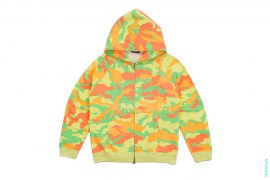 Neon Woodland Camo Full Zip Hoodie by A Bathing Ape