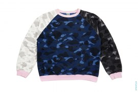Crazy Color Camo Crewneck Sweatshirt by A Bathing Ape