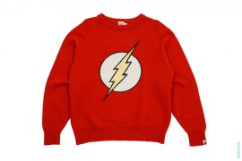 Flash Knit Sweater by A Bathing Ape x DC Comics