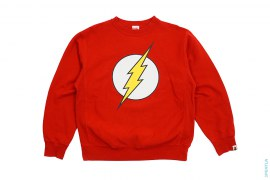 Flash Crewneck Sweatshirt by A Bathing Ape x DC Comics