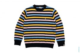 Milo Cotton Candy Border Knit Sweater by A Bathing Ape