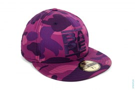 Color Camo Run Logo Fitted Baseball Cap by A Bathing Ape
